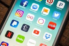 LAS VEGAS, nanovolt - agosto 26,2016: Foco seletivo Apple da vinheta mim Fotografia de Stock Royalty Free