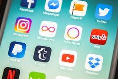 LAS VEGAS, nanovolt - agosto 26,2016: Foco seletivo Apple da vinheta mim Fotos de Stock