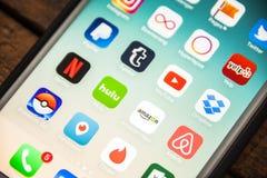LAS VEGAS, nanovolt - agosto 26,2016: Foco seletivo Apple da vinheta mim Foto de Stock