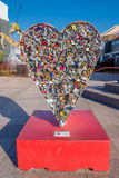 LAS VEGAS, NANOVOLT - 21 NOVEMBRE 2016 : La sculpture en pendentif d'amour au parc de récipient à Las Vegas, parc de récipient es Photo stock