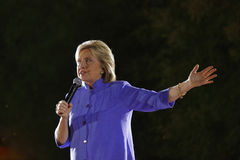 LAS VEGAS, NANOVOLT - 14. OKTOBER 2015: Hillary Clinton, ehemaliges U S Staatssekretär und 2016 demokratischen Präsidentschaftsan Lizenzfreies Stockbild