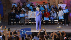 LAS VEGAS, NANOVOLT - 14. OKTOBER 2015: Hillary Clinton, ehemaliges U S Staatssekretär und 2016 demokratischer Präsidentschaftsan Lizenzfreie Stockfotografie