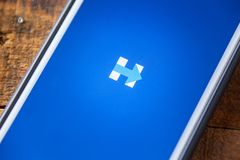 LAS VEGAS, nanovolt - 22 septembre 2016 - Hillary Clinton App On Appl Images stock