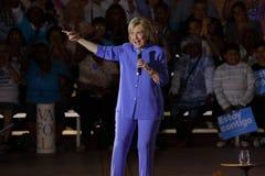 LAS VEGAS, NANOVOLTIO - 14 DE OCTUBRE DE 2015: Hillary Clinton, U anterior S Secretario de Estado y 2016 candidato demócrata a la Fotos de archivo libres de regalías