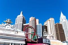 Las Vegas, nanovoltio, los E.E.U.U. 09032018: opinión del día de la tira principalmente Nueva York Nueva York imagen de archivo libre de regalías
