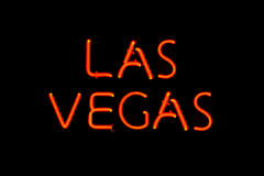 Las Vegas neon sign Royalty Free Stock Image