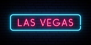 Las Vegas neon sign. vector illustration