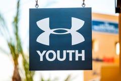 LAS VEGAS, NEVADA - 22 agosto 2016: Nell'ambito del logo O della gioventù dell'armatura Immagini Stock