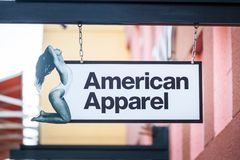 LAS VEGAS, NEVADA - 22 août 2016 : American Apparel Logo On Image libre de droits