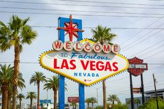 The famous Welcome to Fabulous Las Vegas sign. USA stock images