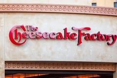LAS VEGAS, NEVADA - 22. August 2016: Die Käsekuchen-Fabrik Lo lizenzfreie stockfotos