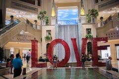 Love art installation at the Venetian. Las Vegas, Nevada: August 3, 2017: LOVE, an  Art Installation at the Venetian.  Laura Kimpton is the artist who created Stock Photo