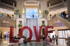 Love art installation at the Venetian. Las Vegas, Nevada: August 3, 2017: LOVE, an  Art Installation at the Venetian.  Laura Kimpton is the artist who created Stock Photos
