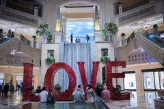 Love art installation at the Venetian. Las Vegas, Nevada: August 3, 2017: LOVE, an  Art Installation at the Venetian.  Laura Kimpton is the artist who created Royalty Free Stock Images