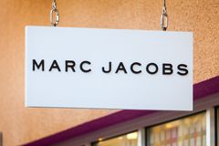 LAS VEGAS, NEVADA - 22. August 2016: Marc Jacobs Logo On Store Stockbilder