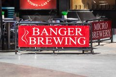 LAS VEGAS, NEVADA - August 22nd, 2016: Banger Brewing In Las Veg. As On Fremont Street Stock Photography