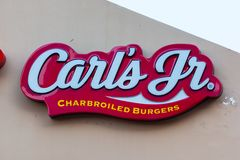 LAS VEGAS, NEVADA - August 22nd, 2016: Carl's Jr Fast Food Chain Stock Photos