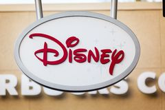 LAS VEGAS, NEVADA - August 22nd, 2016: Disney Store Logo On Stor Stock Photography