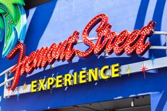 LAS VEGAS, NEVADA - August 22nd, 2016: Fremont Street Experience royalty free stock photo