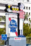 LAS VEGAS, NEVADA - August 22nd, 2016: Pabst Blue Ribbon Sign On Royalty Free Stock Photography