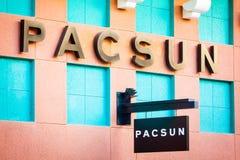 LAS VEGAS, NEVADA - August 22nd, 2016: Pacsun Logo On Store Fron Stock Photo