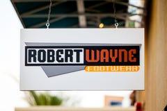 LAS VEGAS, NEVADA - August 22nd, 2016: Robert Wayne Footwear Log Stock Photos