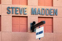 LAS VEGAS, NEVADA - August 22nd, 2016: Steve Madden Logo On Store Front Sign. stock images