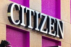 LAS VEGAS NEVADA - Augusti 22nd, 2016: Medborgare Logo On Store Fro royaltyfri fotografi