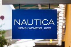 LAS VEGAS NEVADA - Augusti 22nd, 2016: Nautica Logo On Store Fro fotografering för bildbyråer