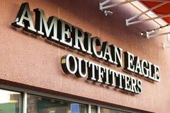 LAS VEGAS, NEVADA - Augustus tweeëntwintigste, 2016: Amerikaans Eagle Logo On St Stock Foto