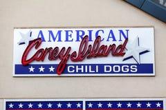 LAS VEGAS, NEVADA - Augustus tweeëntwintigste, 2016: Amerikaans Heet Coney Island Royalty-vrije Stock Afbeeldingen