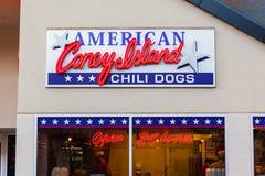 LAS VEGAS, NEVADA - Augustus tweeëntwintigste, 2016: Amerikaans Heet Coney Island Stock Foto's