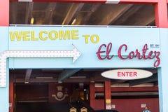LAS VEGAS, NEVADA - Augustus tweeëntwintigste, 2016: Gr Cortez Hotel Parking G stock afbeeldingen