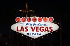 Las Vegas, Nevada. #beautiful #america #usa #dream #nevada #lasvegas #sign #night #welcome Stock Photography