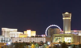 LAS VEGAS, NEVADA - Caesar`s Palace, Harrah`s, the Venetian, and The High Roller stock images
