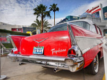 Las Vegas Nevada, Chevrolet bel air Tropicana hotel, - Zdjęcia Stock