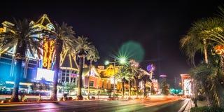 Las vegas nevada city skyline and vegas strip at night Royalty Free Stock Photography