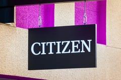 LAS VEGAS, NEVADA - 22 de agosto de 2016: Cidadão Logo On Store Fro fotos de stock