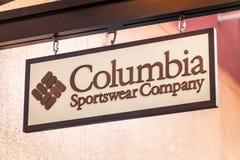 LAS VEGAS, NEVADA - 22 de agosto de 2016: Columbia Sportswear Compa foto de archivo libre de regalías