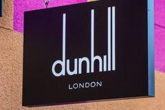 LAS VEGAS, NEVADA - 22 de agosto de 2016: Dunhill Logo On Store Fro foto de stock royalty free