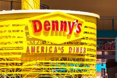 LAS VEGAS, NEVADA - 22 de agosto de 2016: O restaurante Americ de Denny Fotos de Stock Royalty Free