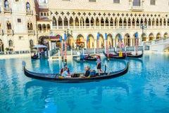 Réplica de Veneza com a gôndola em Las Vegas Fotos de Stock