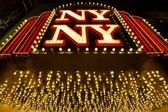 Las Vegas, Nevada - 12 de septiembre de 2012: Nuevo York-nuevo hotel de York Imagen de archivo libre de regalías