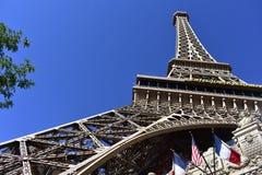 Las Vegas, Nevada - de V.S. - 05,2017 Juni - Mening van de Toren van Eiffel Stock Foto's