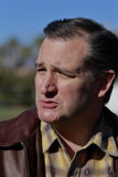 LAS VEGAS, NEVADA, DECEMBER 17, 2015: Closeup profile of Republican Presidential candidate Sen. Ted Cruz, R-Texas, interviewed at  Royalty Free Stock Images