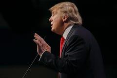 LAS VEGAS NEVADA, 14 DECEMBER, 2015: De republikeinse presidentiële kandidaat Donald Trump spreekt bij campagnegebeurtenis in Wes Stock Afbeeldingen