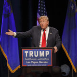 LAS VEGAS NEVADA, DECEMBER 14, 2015: Republican presidential candidate Donald Trump speaks at campaign event at Westgate Las Vegas Royalty Free Stock Images