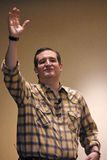 LAS VEGAS, NEVADA, DECEMBER 17, 2015: Republican Presidential candidate Sen. Ted Cruz, R-Texas, speaks, points and waves during Pr royalty free stock photos