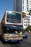 Las Vegas, Nevada - Double decker Deuce bus picks up passengers in downtown Las Vegas. This is a popular route