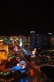 LAS VEGAS, NEVADA, EUA - 22 DE ABRIL DE 2015: Ideia aérea da tira, estiramento de 4 2 milhas em Las Vegas Boulevard Fotografia de Stock Royalty Free